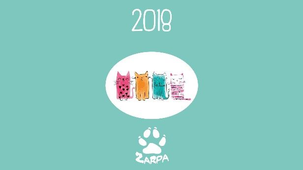 Calendario Gatos Zarposos 2018